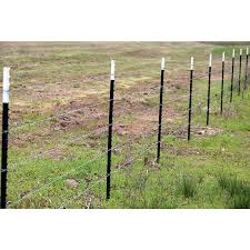 T Post W P 1 25 5 Ft Grn Upc 3 In X 5 Ft Green Steel Farm Fence T Post In The Fence Hardware Department At Lowes Com