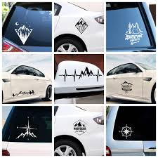 Hot Sale Mountains And Compass Car Sticker Decal Vinyl Large Art Pattern Art Cars Body Stickers Waterproof Auto Accessories Buy At The Price Of 2 00 In Aliexpress Com Imall Com