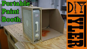 build a portable spray paint booth for
