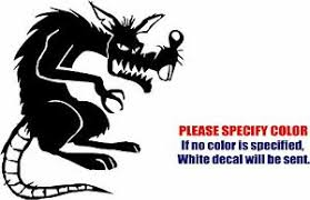 Evil Rat Mouse Decal Sticker Jdm Funny Vinyl Car Window Bumper Truck Trailer 9 Ebay
