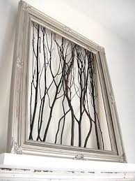 diy framed tree branch wall art diy