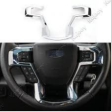Interior Chrome Abs Steering Wheel Button Frame Ring Trim Decal Sticker For Ford F150 2015 2016 2017 Car Styling Accessories Ford Interior Trim Interior Accessories For Fordchrome Buttons Aliexpress