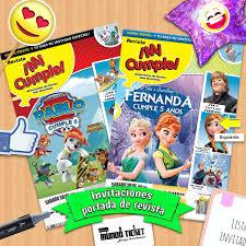 Invitacion Infantil Personalizada Portada Revista 12 00 En