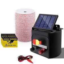 5km Solar Electric Fence Energiser Energizer 0 15j 2000m Poly Fencin Furniture Savings