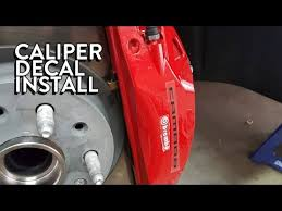 Guide Installing Caliper Decals Youtube