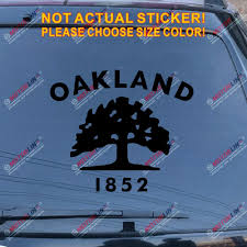 Flag Of Oakland California Car Decal Sticker Choose Size And Color