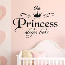 New Arrivals Princess Sleeps Baby Kids Girl Quote Wall Stickers Art Room Removable Decals Diy Cute Wall Stickers Home Decoration In 2020 Wall Stickers Girl Bedroom Decal Wall Art Baby Room