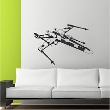 X Wing Star Wars Wall Decals Starfighter Kids Bedroom Wall Designs Star Wars Wall Murals Star Wars Decals X Wing Trendywalldesigns