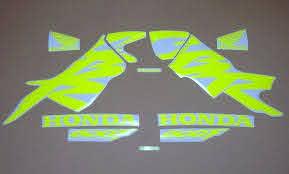 Honda Cbr 600f F4 Custom Neon Fluorescent Yellow Green Decals Etsy