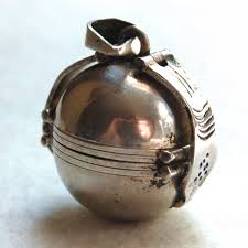 ball locket mexican sterling silver