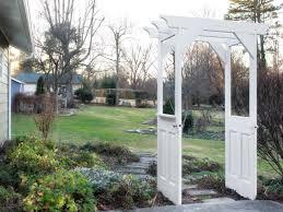 garden arbor from old wooden doors