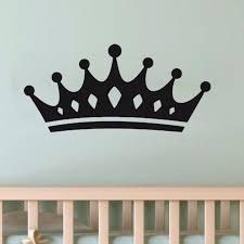 New Design Queen Crown Wall Stickers Beautiful Wall Decal For Kids Girls Room Vinyl Art Murals Removable Wallpaper Home Decor Wall Stickers Aliexpress