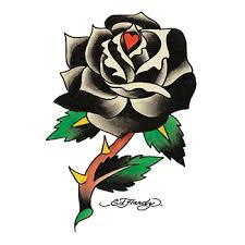 Ed Hardy Black Rose Temporary Tattoo Goimprints