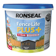 Ronseal Fence Life Plus Shed Fence Treatment Charcoal Grey 9ltr Fence Paint Screwfix Com
