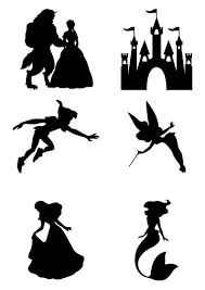 3 99 Gbp Disney Characters Wall Stickers Beauty And The Beast Wall Dec Disney Princess Silhouette Disney Silhouette Painting Beauty And The Beast Silhouette