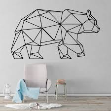 Bear Geometric Wall Decal Kuarki Lifestyle Solutions