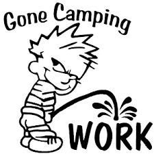 Gone Camping Pee On Work Car Or Truck Window Decal Sticker Rad Dezigns