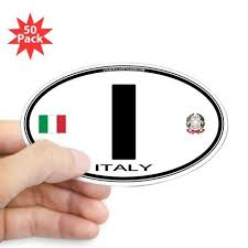 Italy Euro Oval Oval Sticker 50 Pk Bumper Stickers Poster Stickers Vinyl Sticker