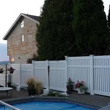 Weatherables Huntington 5 Ft H X 8 Ft W White Vinyl Semi Privacy Fence Panel Kit Pwsp Semi 5x8 The Home Depot
