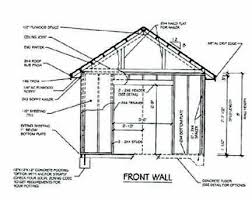 how to draw building plans for a shed