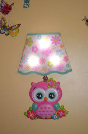 Owl Night Lamp Shade Bedroom Kids Room Wall Sticked By Glissbymnk Painting Lamp Shades Small Lamp Shades Shabby Chic Lamp Shades