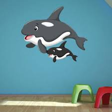 Orca Mama And Baby Wall Decal Style And Apply