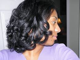 black roller set hairstyles