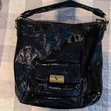 coach bags patent leather bucket bag
