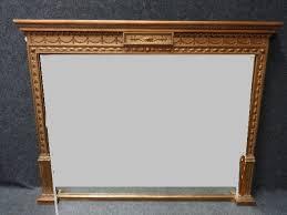 victorian gilt overmantle mirror c 1850