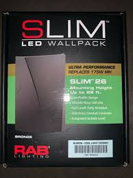 rab slim37 led wall pack for