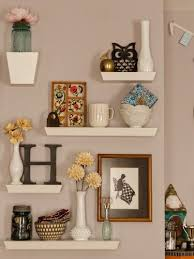 floating shelves living room decor