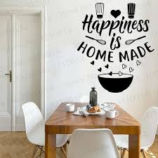Quote Wall Decal Sticker Kitchen Room Art Vinyl Inspirational Funny Family Wallapper Decor Pw375 Wall Stickers Aliexpress
