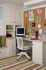 Eclectic Kids Studying Room With A Mosaic Wall Cork Board Idea For Office Office Playroom Built In Desk Home Office Design