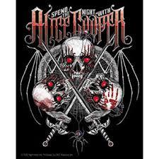 Alice Cooper Vampire Skull Sticker Spend Night With Alice Cooper Orignal Artwork Vinyl Decal Sticker 4 X 5 Wish