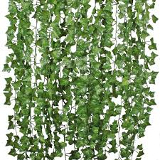 79ft 12 Strands Artificial Flowers Silk Fake Ivy Leaves Greenery Hanging Vine Ivy Plants Leaf Garland For Wedding Party Garden Home Wall Decor Walmart Canada