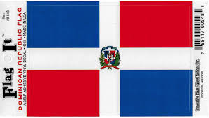 Amazon Com Dominican Republic Flag Car Decal Sticker 3 5x5 Red White Blue Everything Else