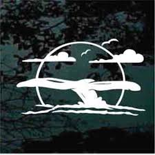 Solid Whale Tail Car Decals Window Stickers Decal Junky
