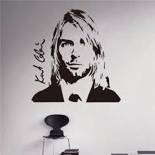 Kurt Cobain Wall Decal Grunge Nirvana Vinyl Sticker Rock Star Singer Music Studio Decal Rock Wall Art Design Housewares Stickers Rock Vinyl Stickerskurt Cobain Aliexpress