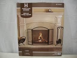 open hearth fireplace screen air