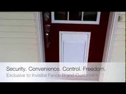 Invisible Fence Brand Electronic Dog Door The Doorman Youtube