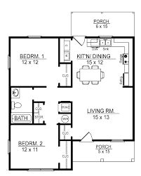 cottage floor plans two bedroom house