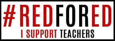 Redfored Decal I Support Teachers Bumper Sticker Education Red For Ed Car Vinyl Ebay