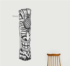 Tiki Totem Wall Art Decal Living Room Home Wall Decoration Self Adhesive Wall Sticker Removable Waterpoof Decor Decals Za831 Wall Art Decals Sticker Removerwall Sticker Aliexpress