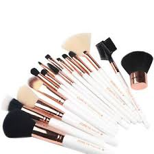 makeup brushes zoreya rose gold set 15