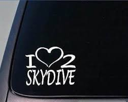 Skydiving Decal Etsy