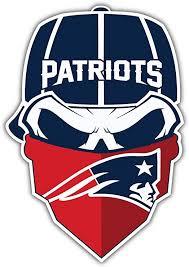 Amazon Com Hotprint Patriots Football New England Sport Skull Logo Car Bumper Sticker Decal 4 X 5 Kitchen Dining