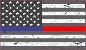 5in X 3in Rustic American Flag Red Blue Lives Matter Sticker Vinyl Decal Stickertalk
