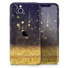 Raining Gold And Purple Sparkle Designskinz Protective Vinyl Decal Wrap Skin Cover Compatible With The Apple Iphone X Full Body Screen Trim Back Glass Skin Walmart Com Walmart Com