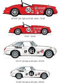 Custom Car Wall Decal Mga British Roadster Vinyl Wall By Walljems Cartaz Publicitario Gran Turismo Publicitarios