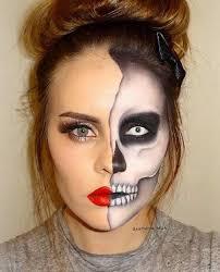 makeup semi faced skeleton makeup